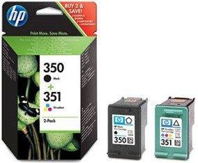 HP oryginalny wkład atramentowy / tusz SD412EE. No.350 + No.351. black/color. 200/170s. 2szt. HP 2-Pack. CB335EE + CB337EE SD412EE