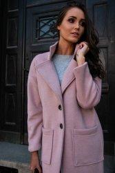 Płaszcz 0011 Różowy Roco Fashion