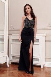 Sukienka 0269 Srebrna Roco Fashion