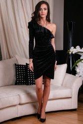 Sukienka 0263 F03 Czarna Roco Fashion