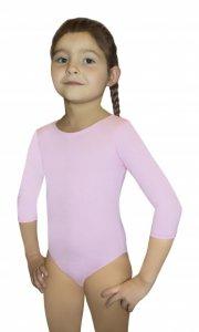 BODYSUIT GIRLS 3/4 SLEEVE LEOTARD body gimnastyczne