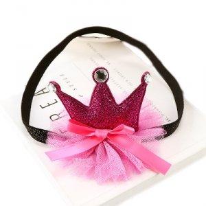 1 kIDS opaska na głowę korona różowa