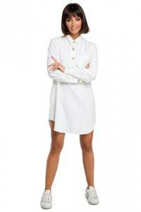 B086 Tunika koszulowa - biała