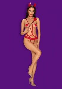 Evilia body czerwone L/XL