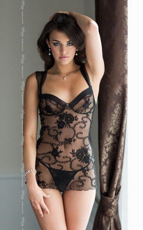 Ana - black 1757 koszulka i stringi
