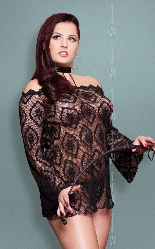 xSora - Plus Size - black 1775 koszulka