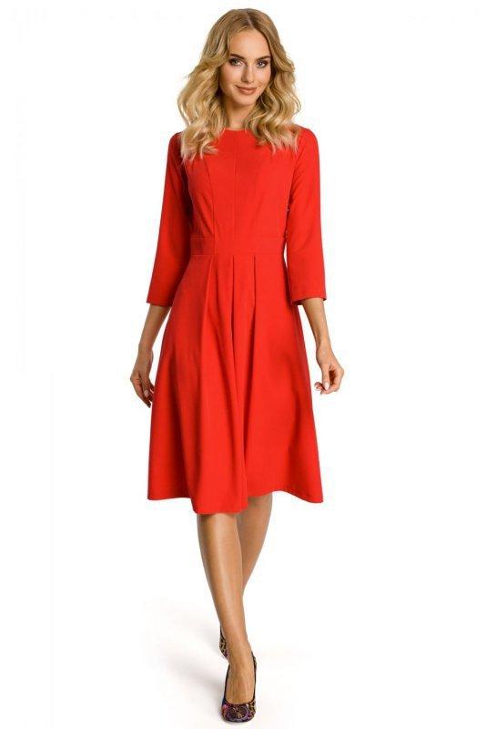 M335 sukienka czerwona