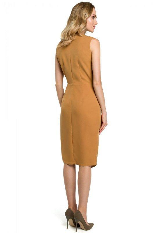 M395 Sukienka - cynamonowa