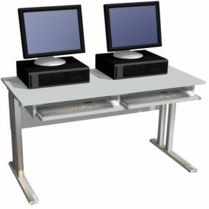 Biurko komputerowe 2-osobowe bez nadstawki