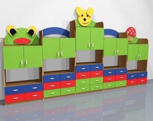 Zestaw szafek przedszkolnych nr 18