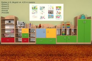 Zestaw mebli przedszkolnych, Primo 6