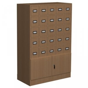 Szafka katalogowa biblioteczna, typ D, 25 szuflad