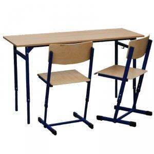 Zestaw - stół Leon z reg. wys. 3-7, z krzesłami Reks z reg. wys. 5-6