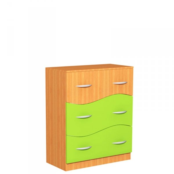 Regał szkolny z szufladami Fala 33, szer. 800 mm, szafa kujawiak fala 33, kujawiak fala 33