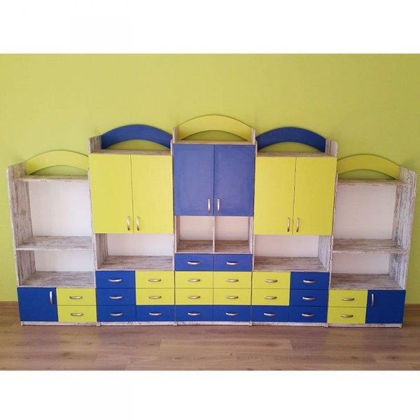 meble przedszkolne,meble do przedszkola,szafki przedszkolne,zestaw szafek przedszkolnych