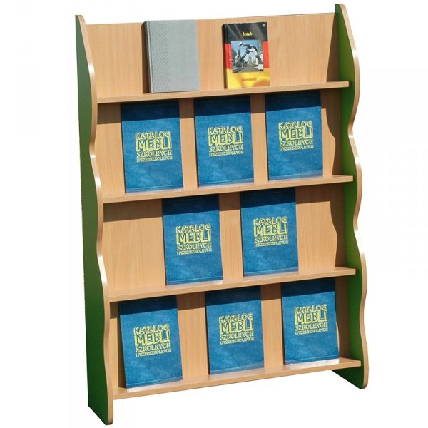 regał ekspozytor na książki Primo 227,dwustronna biblioteczka na kółkach Primo 224, biblioteczka stojąca Primo 223, biblioteczka mobilna z przegrodami Primo 225, kącik do biblioteki, biblioteczka