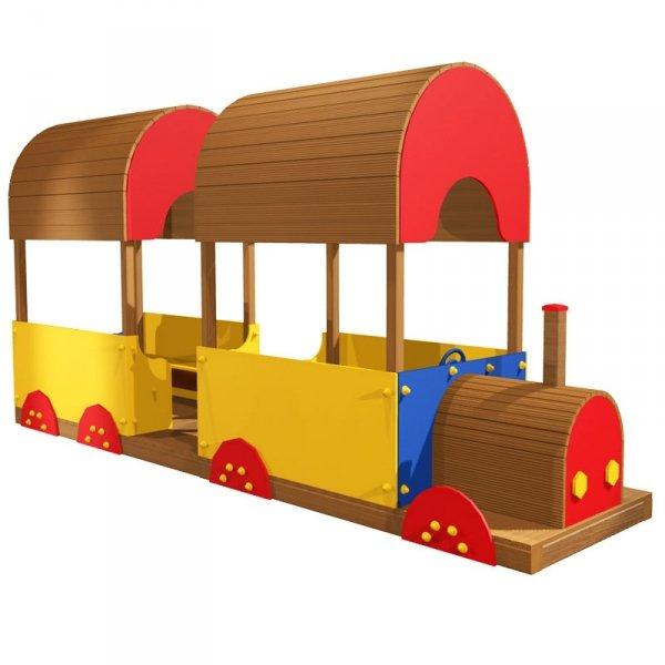 pociąg na plac zabaw, lokomotywa na plac zabaw, lokomotywa drewniana, lokomotywa plac zabaw, domek na plac zabaw, domek do ogrodu, domki ogrodowe, domki dla dzieci, lokomotywa z wagonem