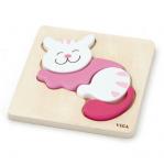 Viga 59930 Pierwsze puzzle maluszka - kot (box)
