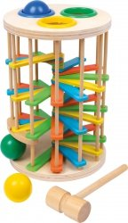 SMALL FOOT Wieża Edukacyjna - Przebijanka dla dzieci