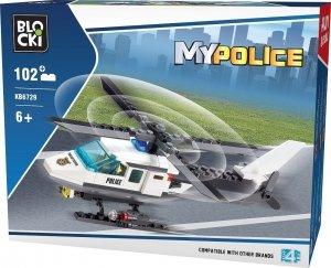 Klocki Blocki MyPolice Helikopter 102 el.