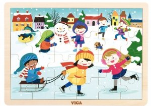 Viga 51272 Puzzle cztery pory roku - zima