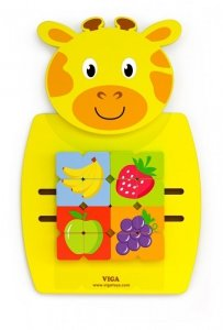 Viga 50680 Sensoryczna tablica manipulacyjna - żyrafa