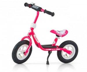Rowerek Biegowy Dusty 10 Pink-White (51138, Milly Mally)