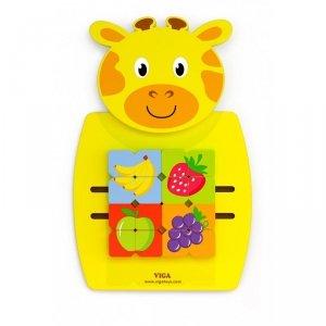 Drewniana Sensoryczna Tablica manipulacyjna Żyrafa Viga Toys