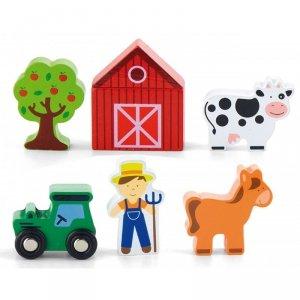 Viga Farma 6 Figurek Drewnianych