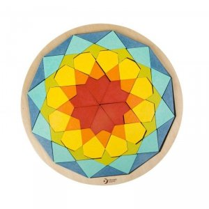 CLASSIC WORLD Drewniane Kolorowe Klocki Mandala