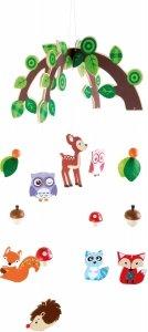SMALL FOOT Forest Animals Mobile - karuzela z kolorowymi zwięrzątkami lasu