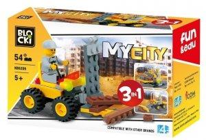 Klocki Blocki MyCity 3w1 - 54 el.