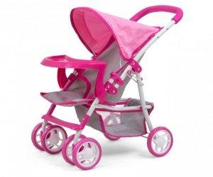 Wózek dla lalek Kate Prestige Pink