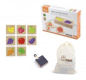 Viga 50700 Zestaw puzzli magnetycznych - owoce i warzywa