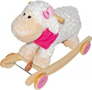 SMALL FOOT Rocking Sheep - bujak z kółkami (owieczka)