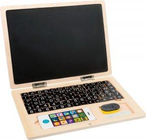 SMALL FOOT Drewniany laptop z tablicą magnetyczną