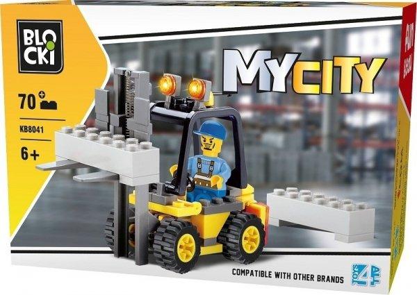 Klocki Blocki MyCity Wózek Widłowy 70el.