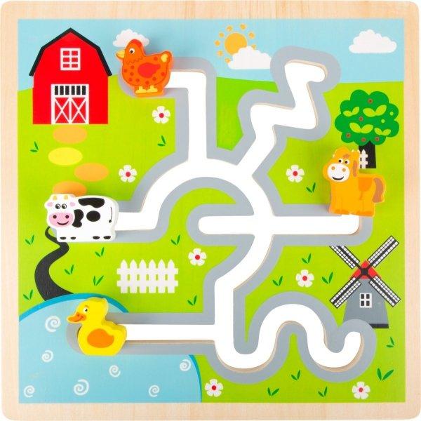 SMALL FOOT Farm Maze Puzzle - labirynt (farma)