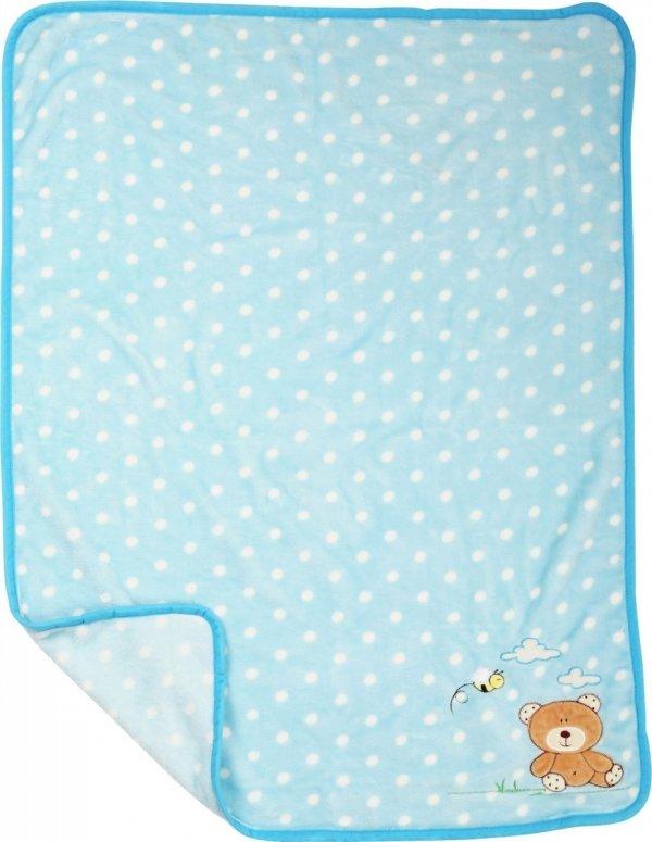 "SMALL FOOT ""Bear"" Baby Blanket - mata dla niemowląt"