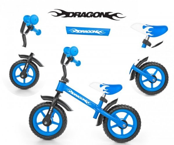 Milly Mally Rowerek Biegowy Dragon blue (0124)