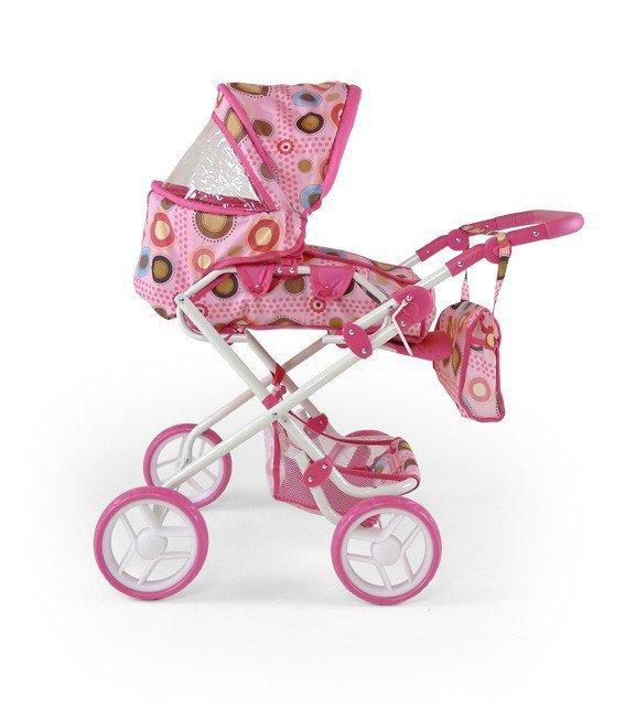 Milly Mally Wózeczek dla lalek Paulina pink/brown (0205, Milly Mally)