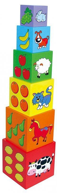 Viga 59461 Piramidka edukacyjna - jedno w drugie