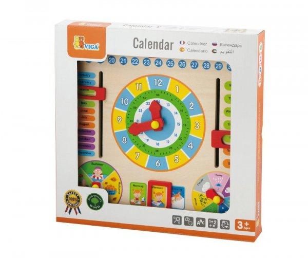 Viga 59872 Tablica manipulacyjna kalendarz z zegarem