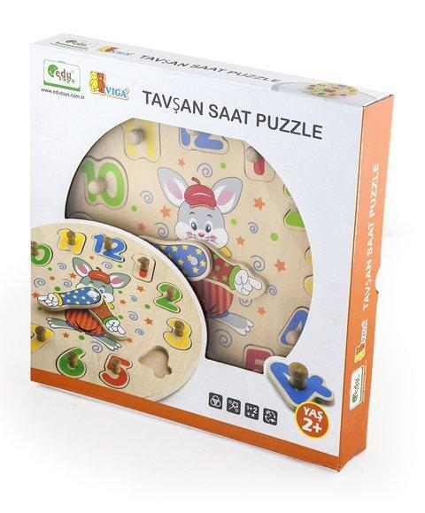 Viga 56171 Drewniany zegar z sorterem kształtów