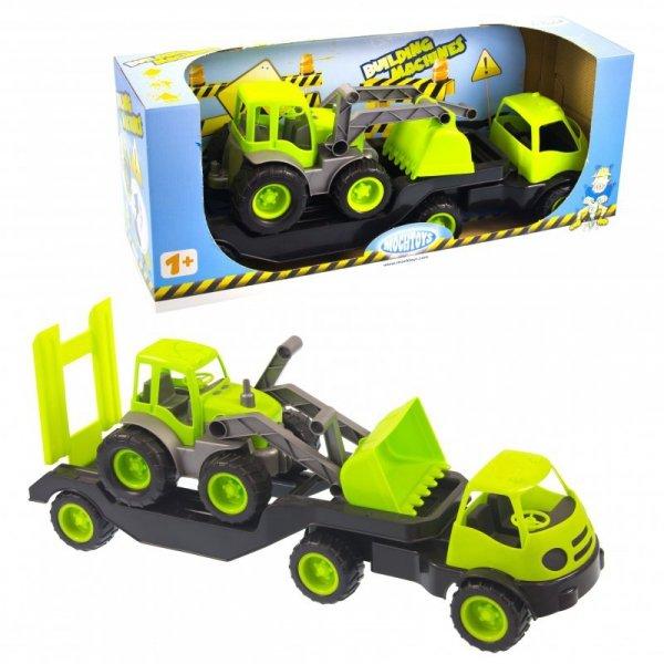 Laweta Ciężarówka Na Gumowych Kołach  MOCHTOYS Zielony