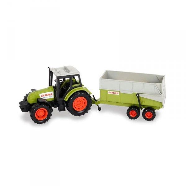 Traktor z przyczepą CLAAS 36 cm dla dzieci Dickie Farm