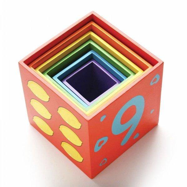 Viga Edukacyjny zestaw klocków Piramida Jedno w drugie