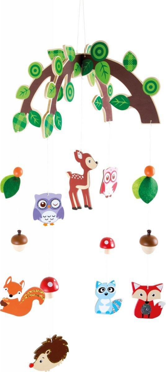 """SMALL FOOT """"Forest Animals"""" Mobile - karuzela z kolorowymi zwięrzątkami lasu"""