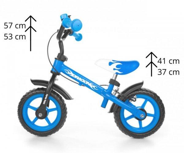 Rowerek biegowy Dragon z hamulcem blue
