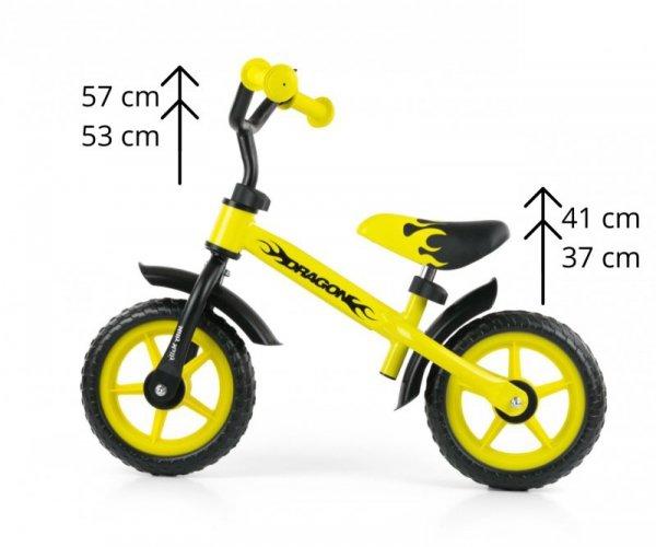 Rowerek Biegowy Dragon yellow